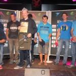 Sie 8 Finalisten der Herrenbewerbs: vlnr: Lukas Schnöller (2.), Martin Schnöller (3.), Benny Hangl (4.), Elias Weiler (1.), Dominik Obermayer (6.), Roland Pinggera (6ex.), Markus Eberl (8.), nicht im Bild der an 5. Stelle liegende Egon Egger (verdeckt);