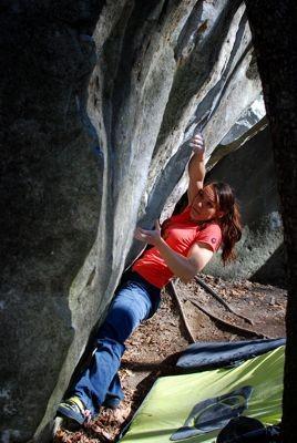 Doro Karalus bouldern Tessin