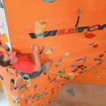 Kletterer: Dominic Dauer Foto: DAV Fulda/Tim Bartzik