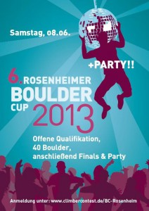 Rosenheimer Boulder cup Poster