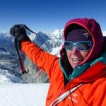 Selbstportrait auf dem Gipfel. (c) Ines Papert
