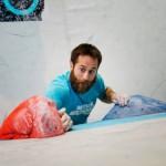 Boulderwelt Maskotchen in Action
