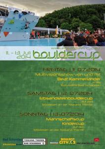 Elbsandstein Bouldercup 2014 Poster