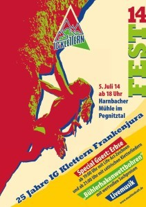IG Klettern FRankenjura Fest - Poster