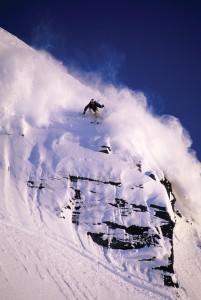 Shanke McConkey skiing in Valdez, Alaska