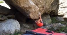Juliane Wurm klettert Niviuk (8A) in Silvretta