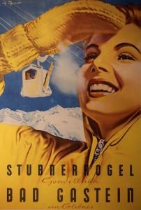 Wintersportwerbung 50er Jahre