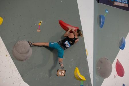 Monika Retschy, Boulderweltcup 2016 Mumbai