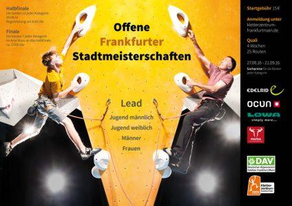 Stadt Meisterschaft Klettern FRankfurt