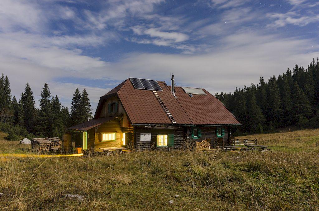 Bergsport Hütte Kletterszene
