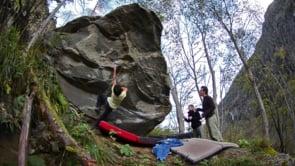 Niky Ceria klettert La Rustica 8C