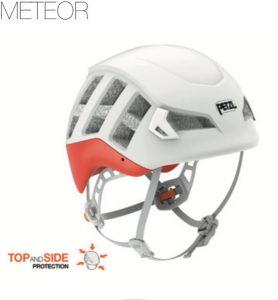 Der METEOR ist ein leichter Helm mit erhöhtem Kopfschutz zum Klettern und Bergsteigen, der ideal zum Skibergsteigen geeignet ist. Er ist der erste CE-zertifizierte Skitourenhelm aus dem Hause Petzl*.