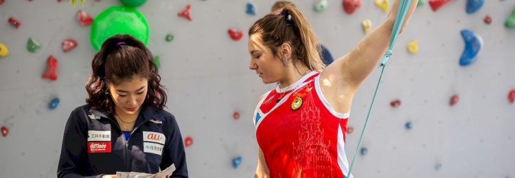 #IFSCwc Wujiang 2019 Speed Qualifications © IFSC/Eddie Fowke