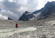 Klettern am Petit Clocher du Portalet 2823 m im Mont Blac Massiv [