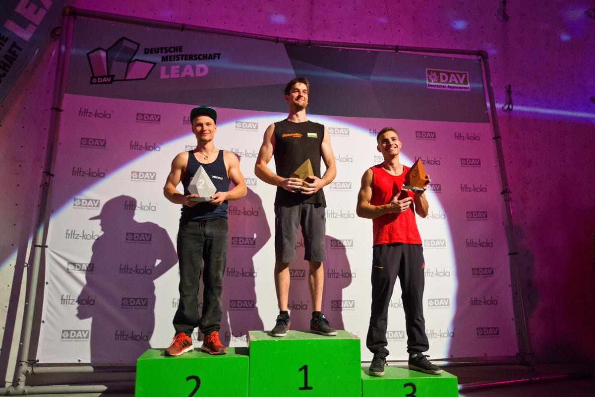 Männer Podium - Deutsche Meisterschaft Lead - DAV