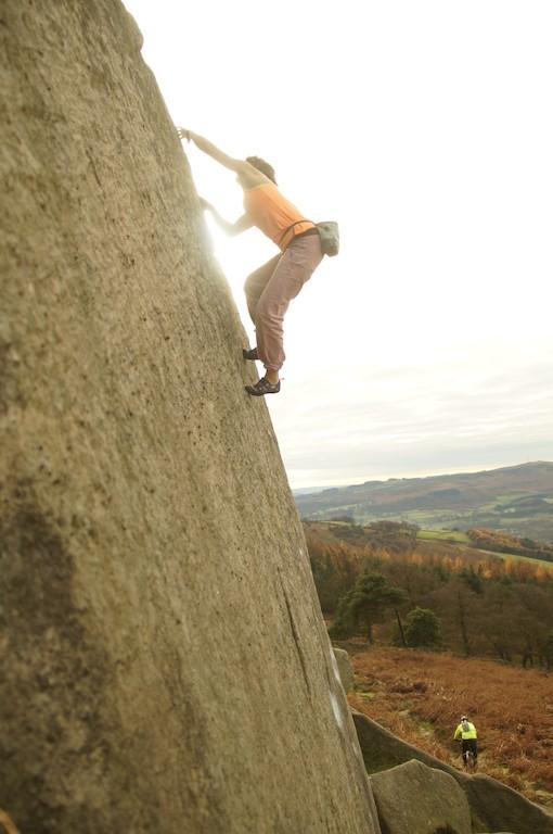 Klettern Grit Stone Sarah B. Foto Lukas B.