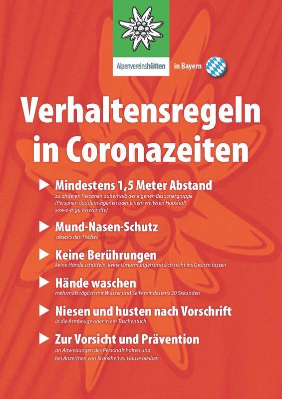 Welche Regeln gelten bei der Hütteneinkehr in Bayern?