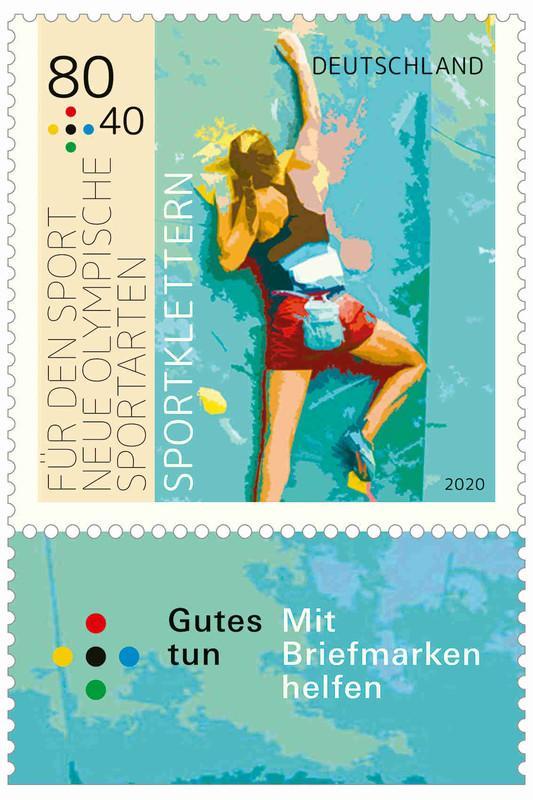"""Sportbriefmarke Plus """"Fit für den Sport"""""""