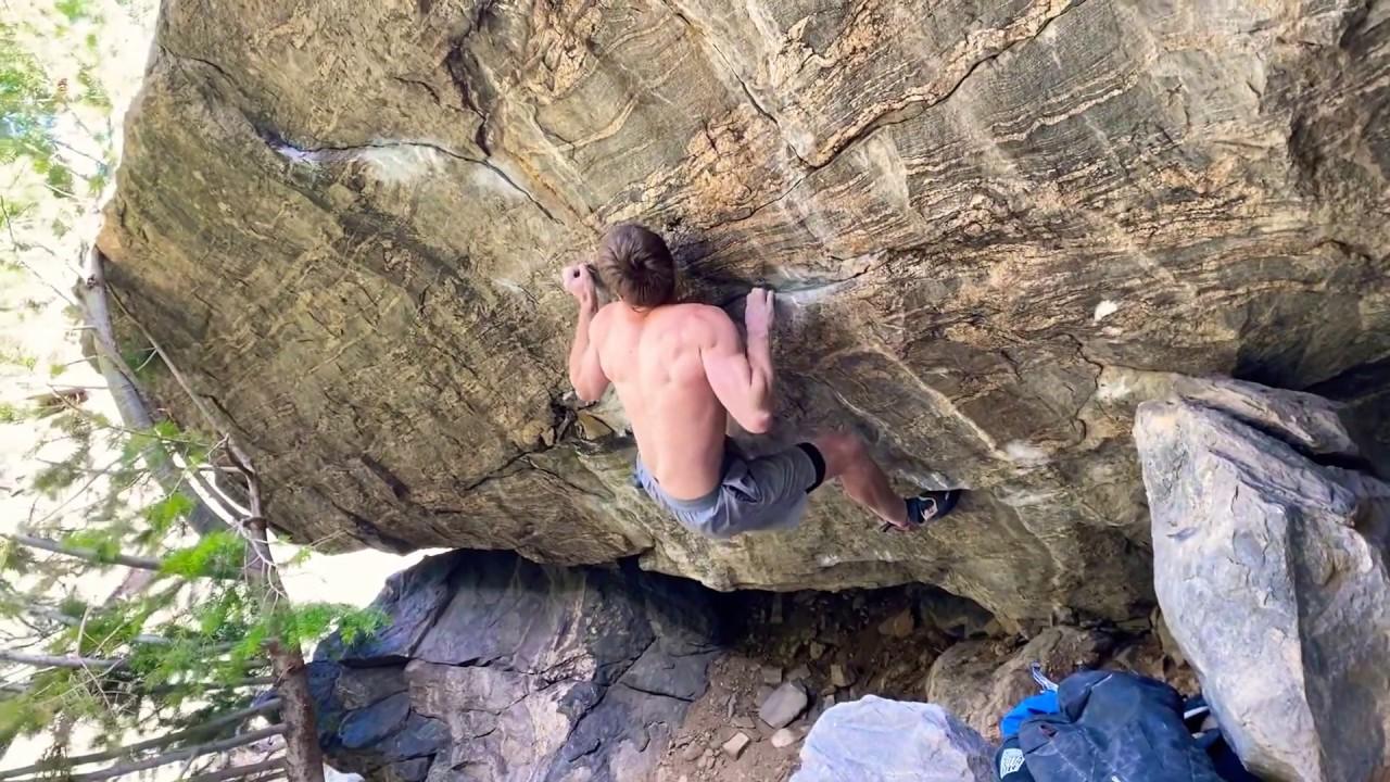 matt fulz bouldering everything gneiss (8B+/C)