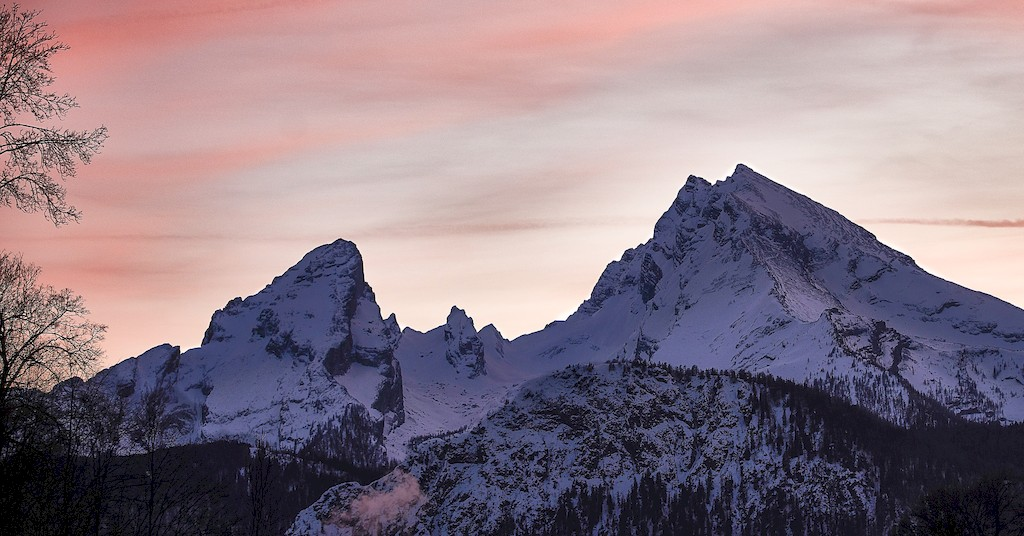 Watzmann Sonnenuntergang Kletterszene