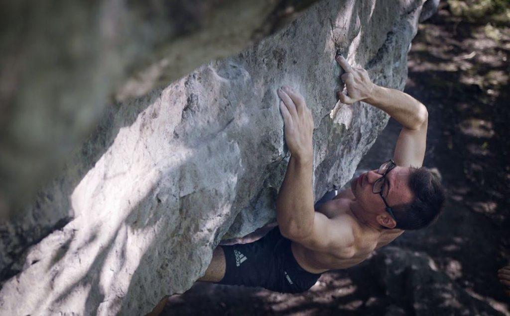 William Bosi klettert Serenata (8C)