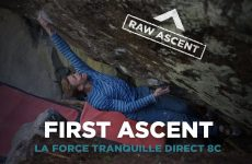 Jakob Schubert First Ascent La Force Tranquille direct 8C