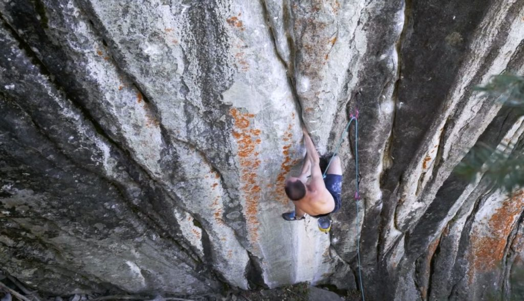 Carlo traversi first ascent_empath (5.15a)_kletterszene
