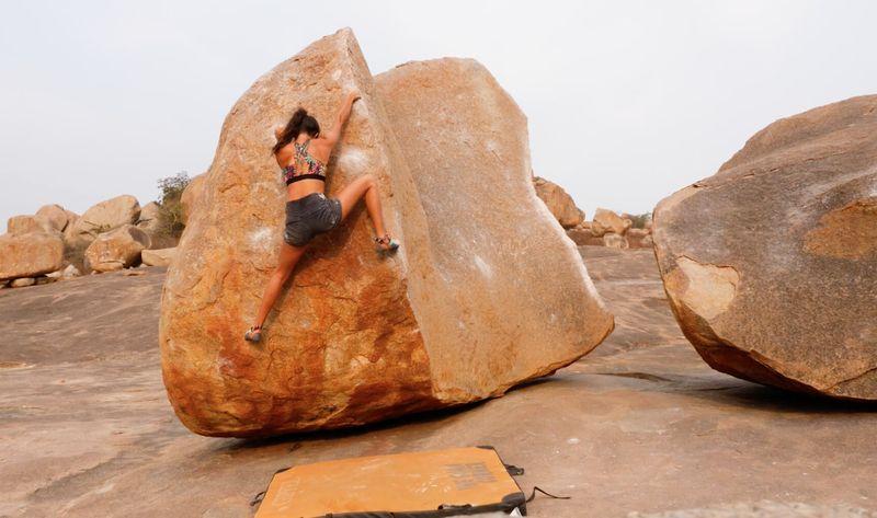 bouldervideo hampi indien