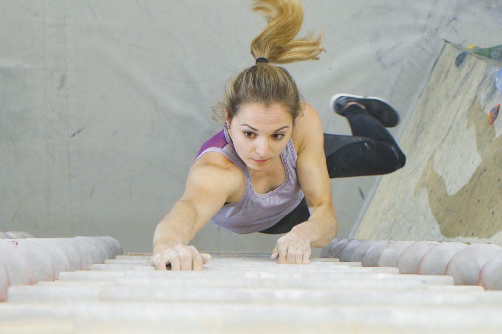 Jessica Pilz Olympia Klettertraining