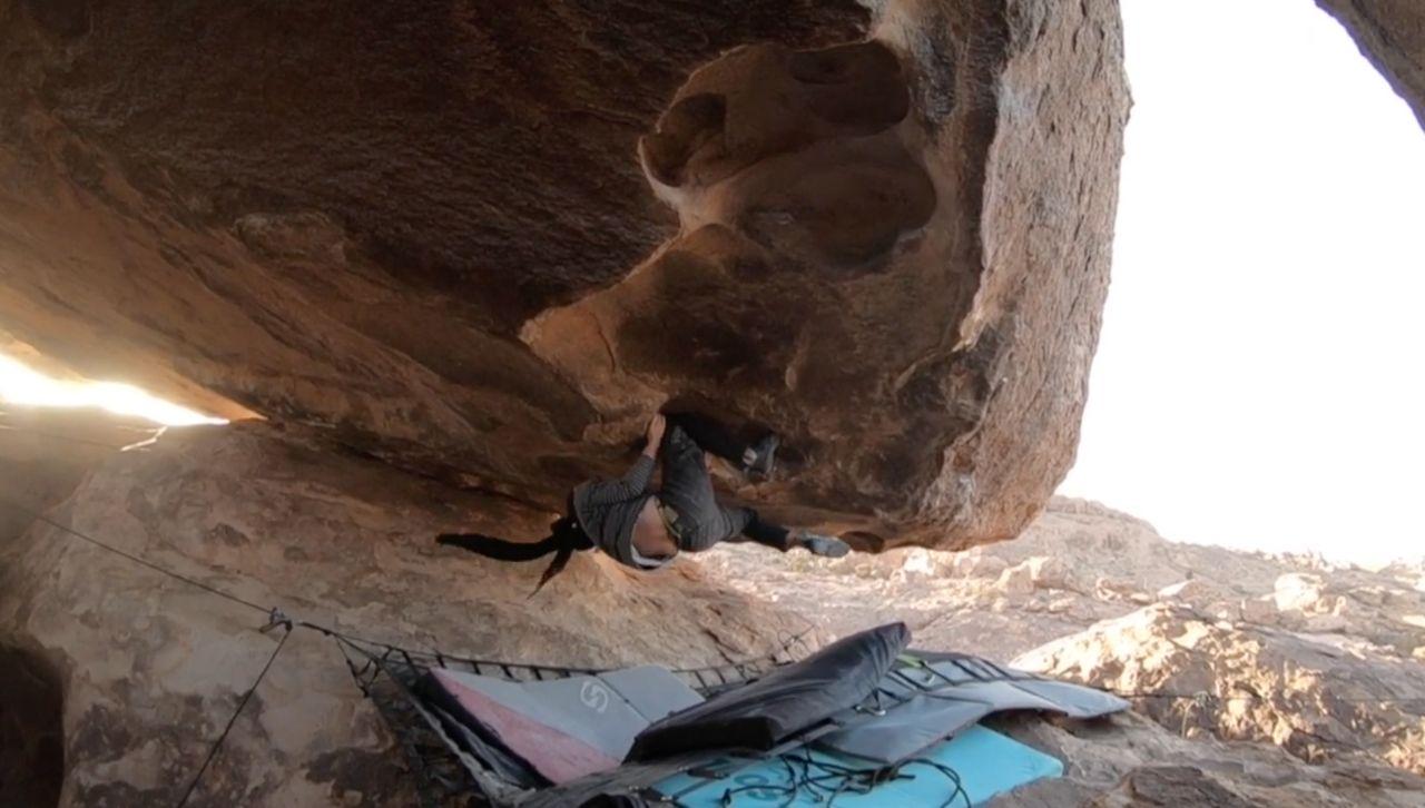 jason kehl bouldert in Hueco