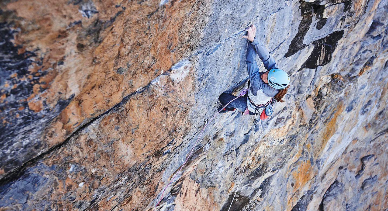 Babsi Zangerl klettert am Eiger die Route Odyssee