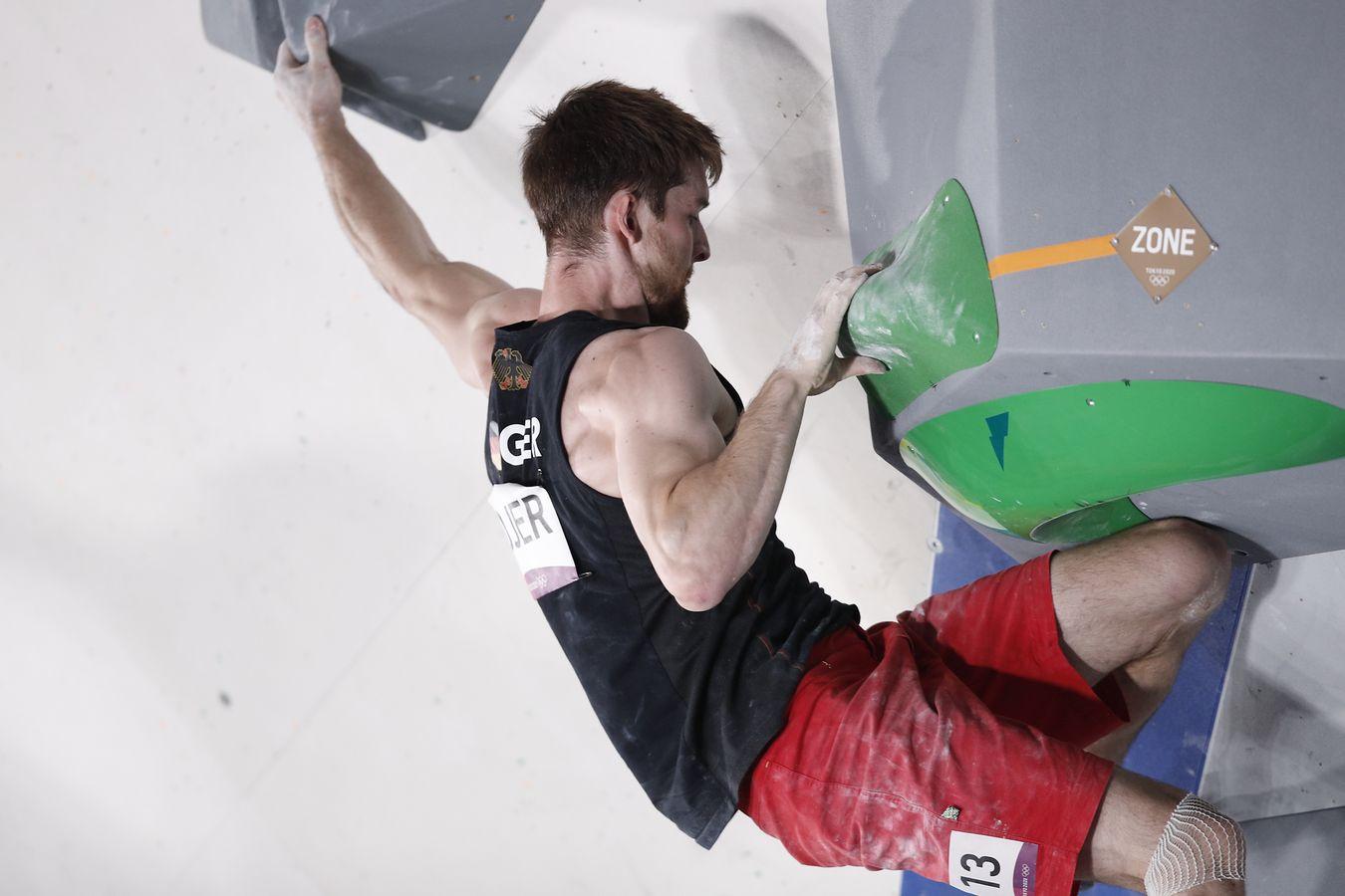 Jan Hojer Olympia Qualifikation Runde Bouldern