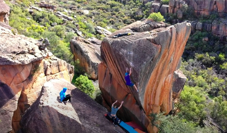 Rocklands Bouldervideo mit vadim timonov klettert finnish line 8c