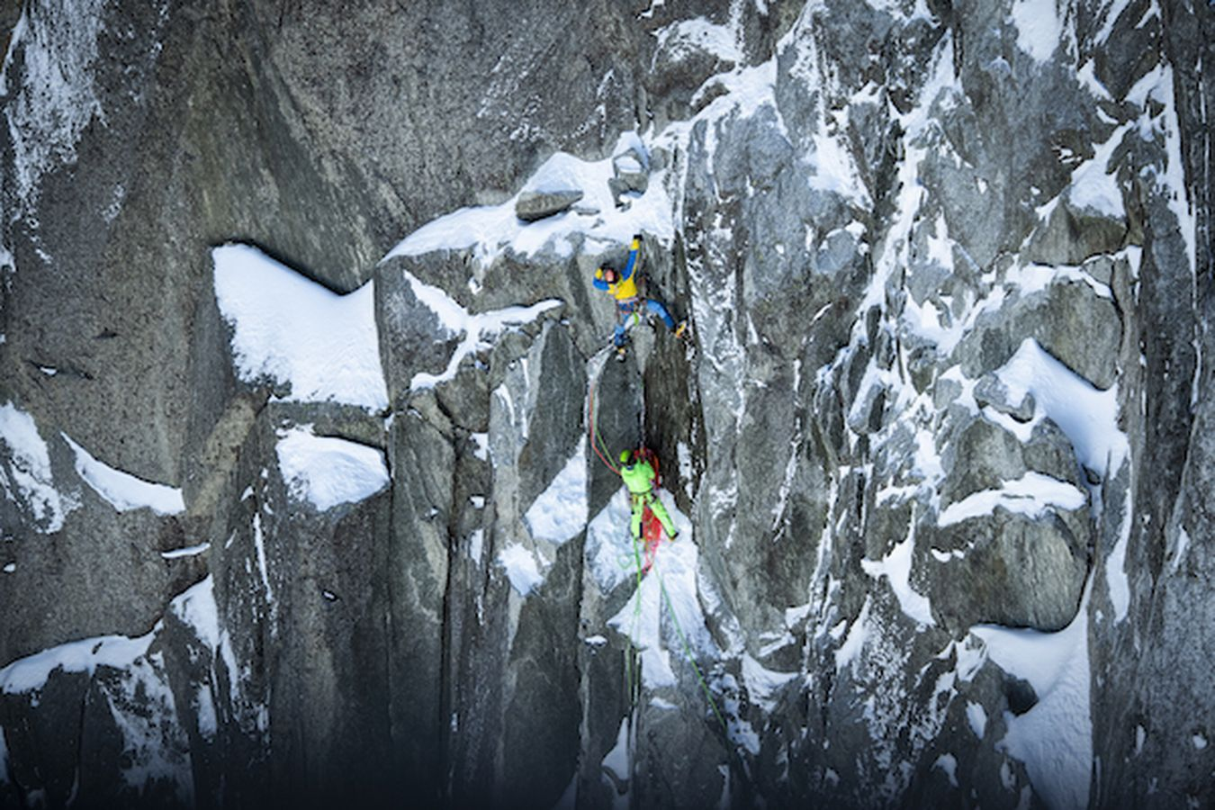 Roger Schäli und Simon Gietl klettern North 6 Projekt