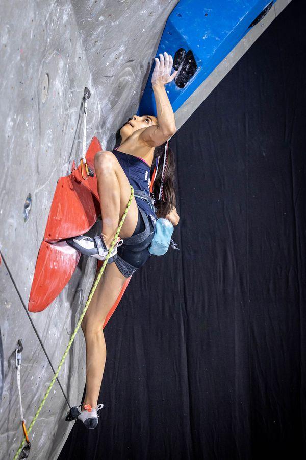 Natalia Grossmann Kletter Weltcup Kranj