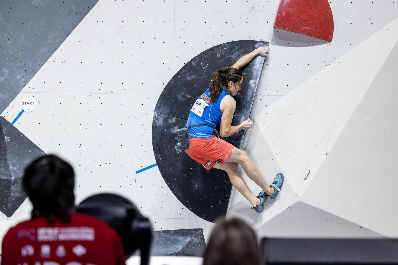Stasa Gejo Finale der boulderweltmeisterschaft