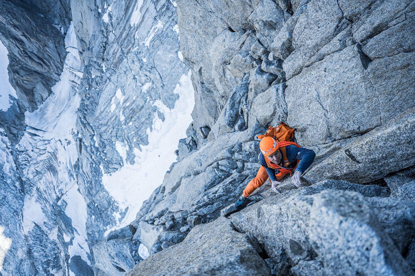 Dani Arnold klettert Solo Speed Rekord Petit Dru Nordwand