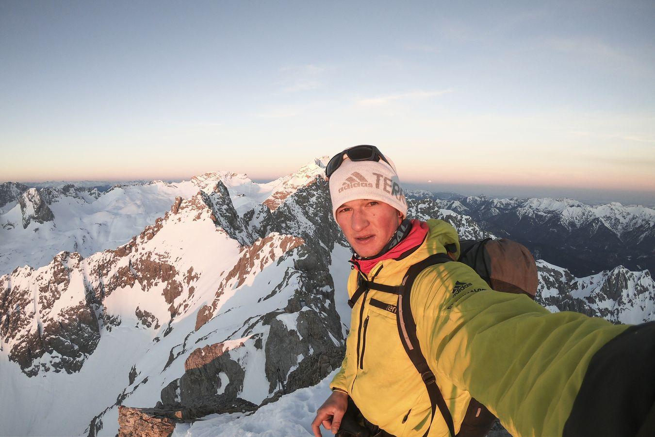 Michi Wohlleben überquert das Wettersteingebirge Solo