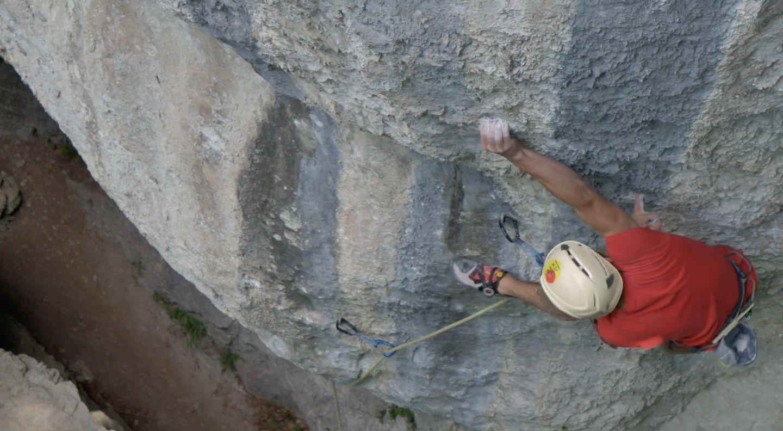 daoud sadlowski klettert in der Schwäbischen Alb