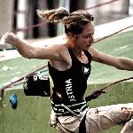 Angela Eiter beim Weltcup in Barcelona (Lead)