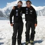 Andreas Nothdurfter und Daniel Kopp im Basecamp