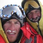 Andreas Nothdurfter und Daniel Kopp auf dem Gipfel
