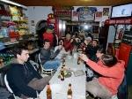Bouldern in Sintra Portugal Abendessen