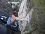 Bouldern in Sintra Portugal, Toni Lamprecht in Nailbiter, Foto: Margit Memminger