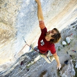 Chris Sharma climbs Three Degrees of Separation (5.14d) in Ceuse, France.