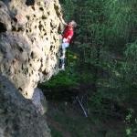 Zittau Bouldern: Tommi im Highball