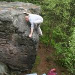 Zittau Bouldern: Peter im Highball